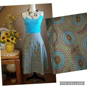 PRETTY COLORFUL PLUS SIZE SKIRT